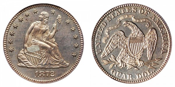 1872 Seated Liberty Quarter