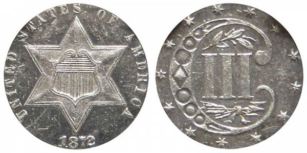 1872 Silver Three Cent Piece Trime
