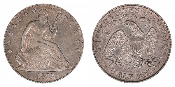 1873 CC Seated Liberty Half Dollar - No Arrows
