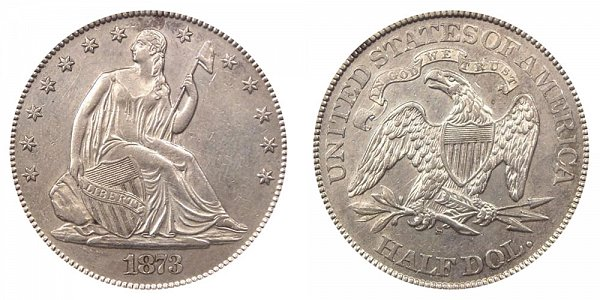 1873 S Seated Liberty Half Dollar - No Arrows