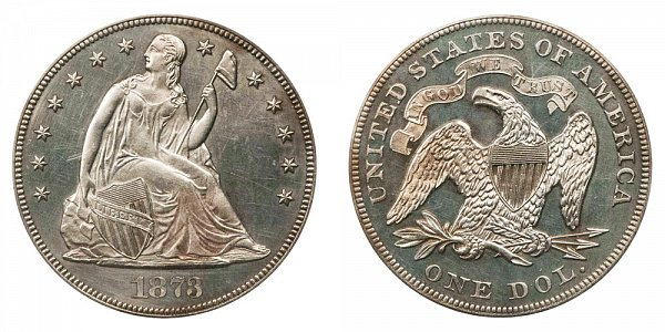 1873 Seated Liberty Silver Dollar