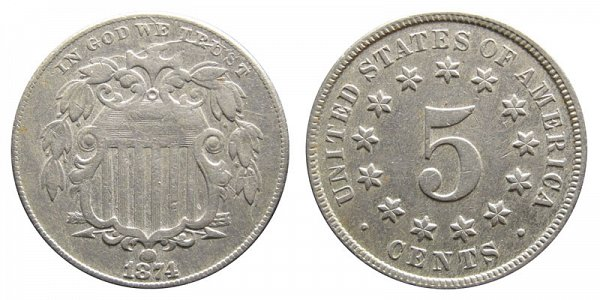 1874 Shield Nickel