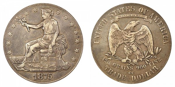 1875 CC Type 2 Trade Silver Dollar