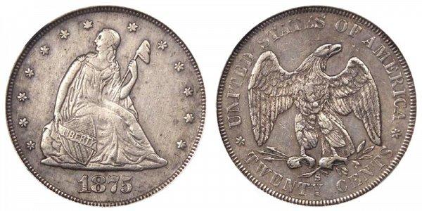 1875 S Twenty Cent Piece