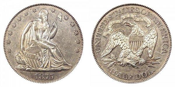 1875 Seated Liberty Half Dollar