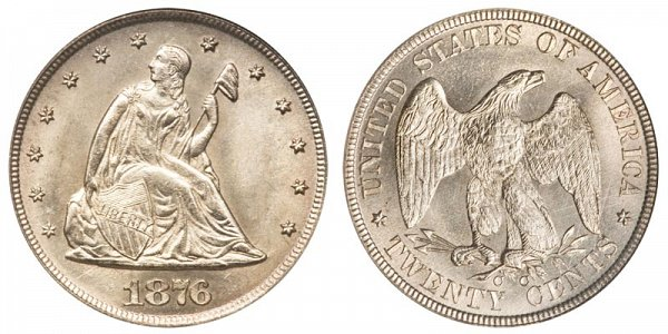 1876 CC Twenty Cent Piece