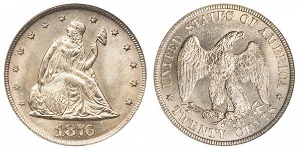 1876 CC Twenty Cent Piece