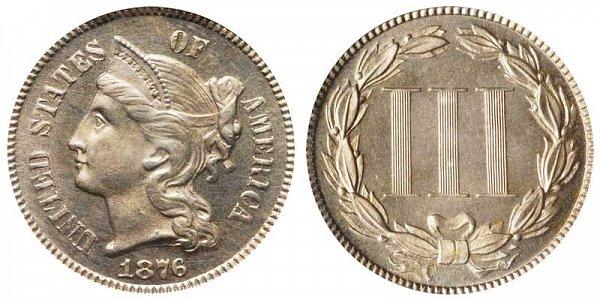 1876 Nickel Three Cent Piece