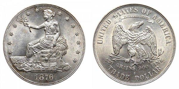 1876 S Trade Silver Dollar - Type 1 Obverse - Type 1 Reverse