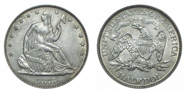 1876 Seated Liberty Half Dollar