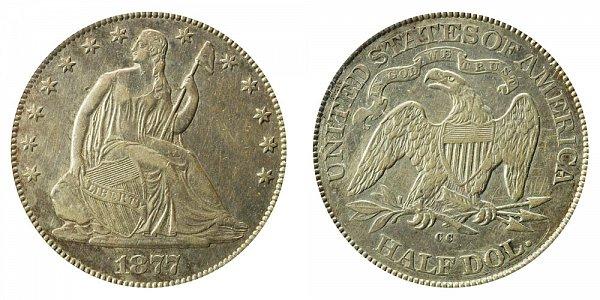 1877 CC Seated Liberty Half Dollar