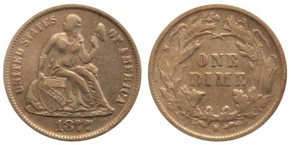 1877 S Seated Liberty Dime