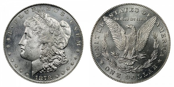1878 Morgan Silver Dollar - 7 Over 8 7/8 Doubled Tail Feathers