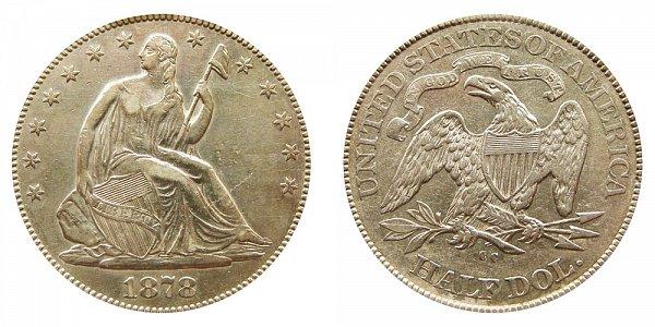 1878 CC Seated Liberty Half Dollar