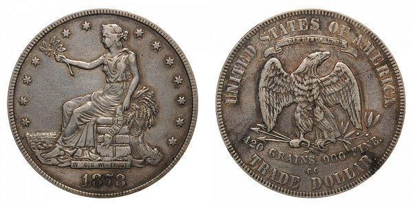 1878 CC Trade Silver Dollar