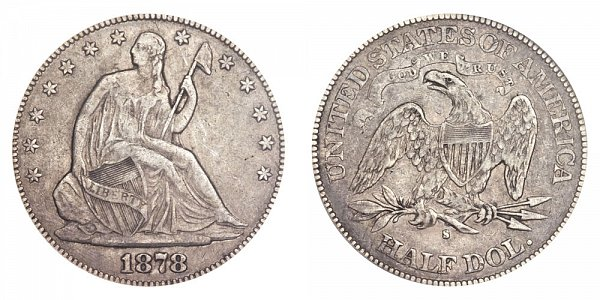 1878 S Seated Liberty Half Dollar