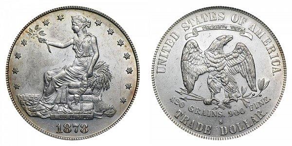 1878 S Trade Silver Dollar
