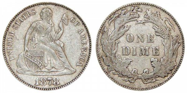 1878 Seated Liberty Dime