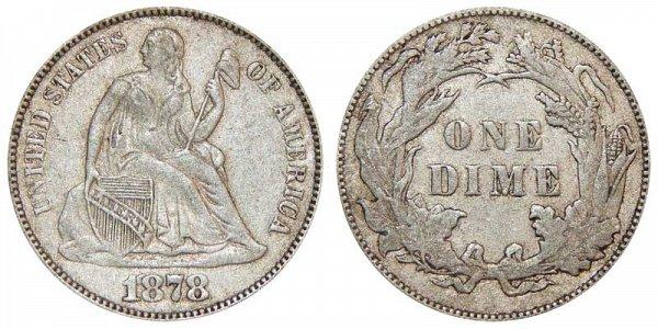 1878 Seated Liberty Dime