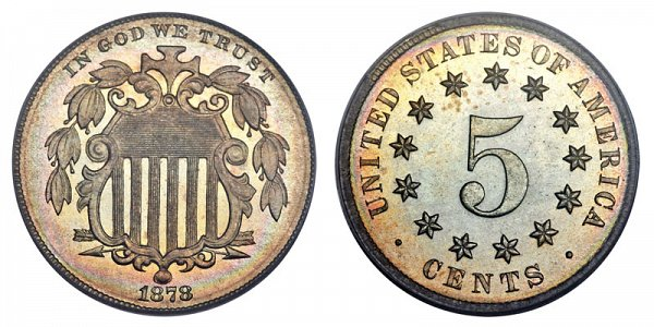 1878 Shield Nickel