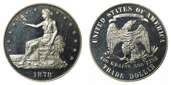 1878 Trade Silver Dollar Proof