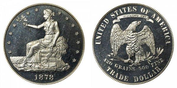 1878 Trade Silver Dollar Proof
