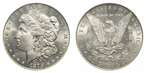 1879 CC Morgan Silver Dollar - Clear CC