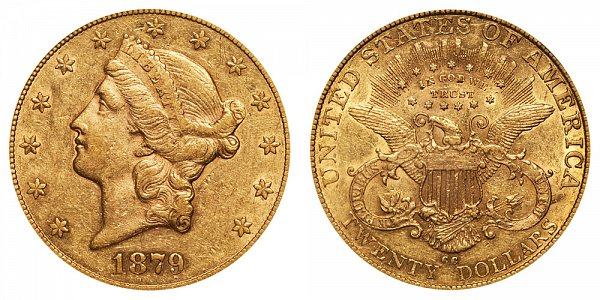 1879 CC Liberty Head $20 Gold Double Eagle - Twenty Dollars