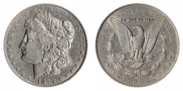 1879 CC Morgan Silver Dollar - Capped Die CC Over CC RPM