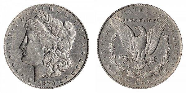 1879 CC Morgan Silver Dollar - Capped Die CC Over CC RPM