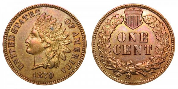 1879 Indian Head Cent Penny