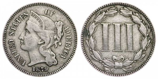 1879 Nickel Three Cent Piece