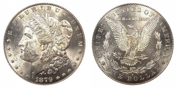 1879 S Morgan Silver Dollar - Reverse of 1878