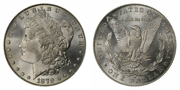 1879 S Morgan Silver Dollar - Reverse of 1879