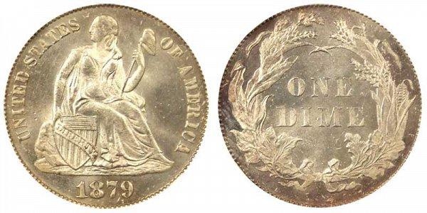 1879 Seated Liberty Dime