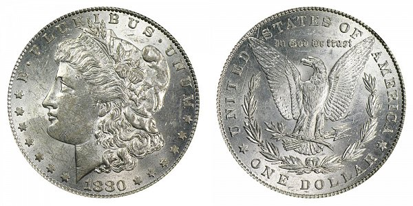 1880/79 Morgan Silver Dollar - 80 Over 79 Overdate