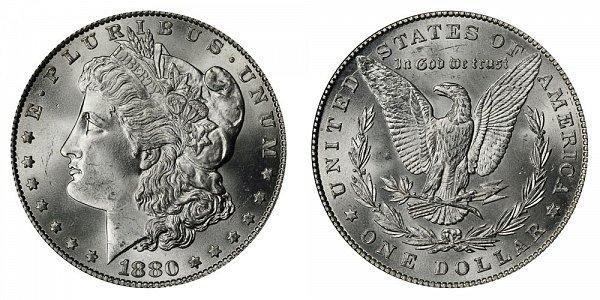 1880 Morgan Silver Dollar - Normal Date