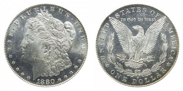 1880/79 O Morgan Silver Dollar - 80 Over 79 Overdate