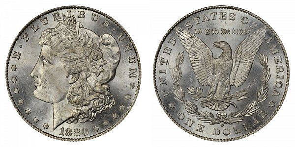 1880 O Morgan Silver Dollar - Normal Date