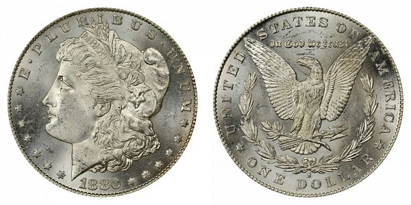 1880/9 S Morgan Silver Dollar - 0 Over 9 Overdate