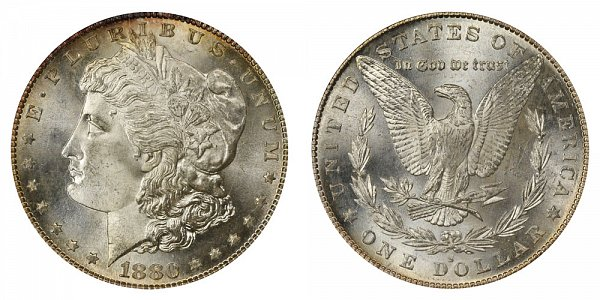 1880/79 S Morgan Silver Dollar - 80 Over 79 Overdate
