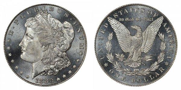 1880 S Morgan Silver Dollar - Normal Date
