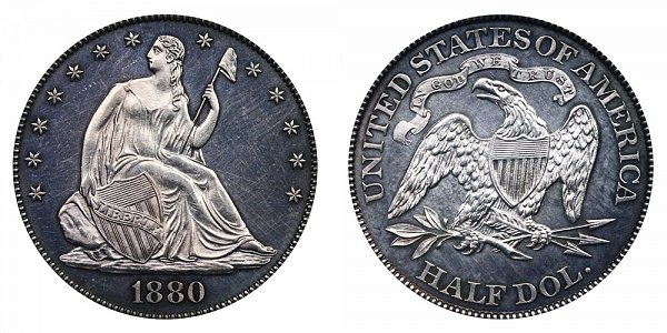 1880 Seated Liberty Half Dollar