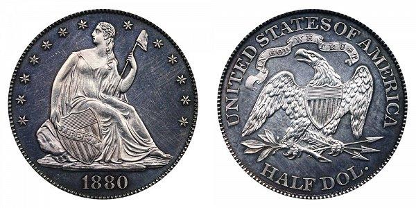 1880 Seated Liberty Half Dollar