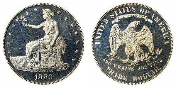 1880 Trade Silver Dollar Proof