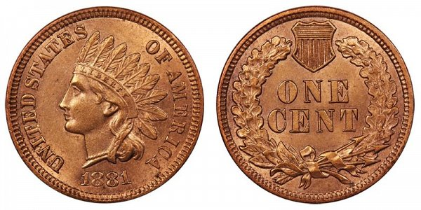 1881 Indian Head Cent Penny