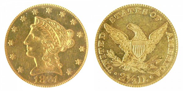 1881 Liberty Head $2.50 Gold Quarter Eagle - 2 1/2 Dollars