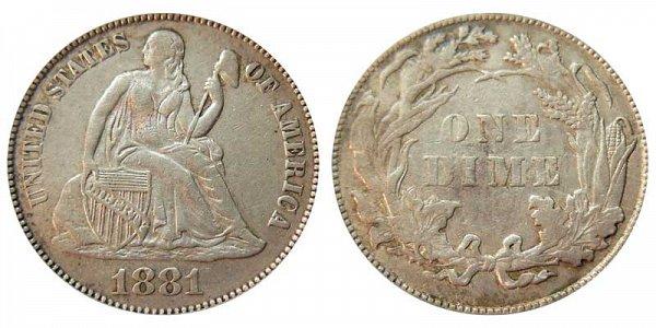 1881 Seated Liberty Dime