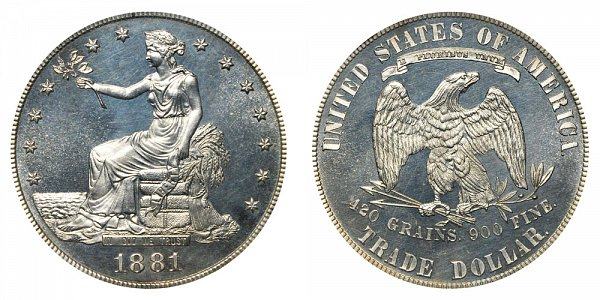 1881 Trade Silver Dollar Proof