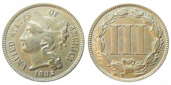 1882 Nickel Three Cent Piece